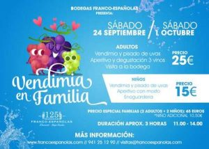 Vendimia con niños: bodeguero por un día @ Bodegas Franco Españolas | Sanlúcar de Barrameda | Andalucía | España