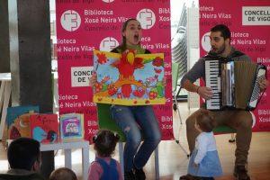 Sesión para bebés 'Entre arrolos e contiños' @ Biblioteca Xosé Neira Vilas | Vigo | España